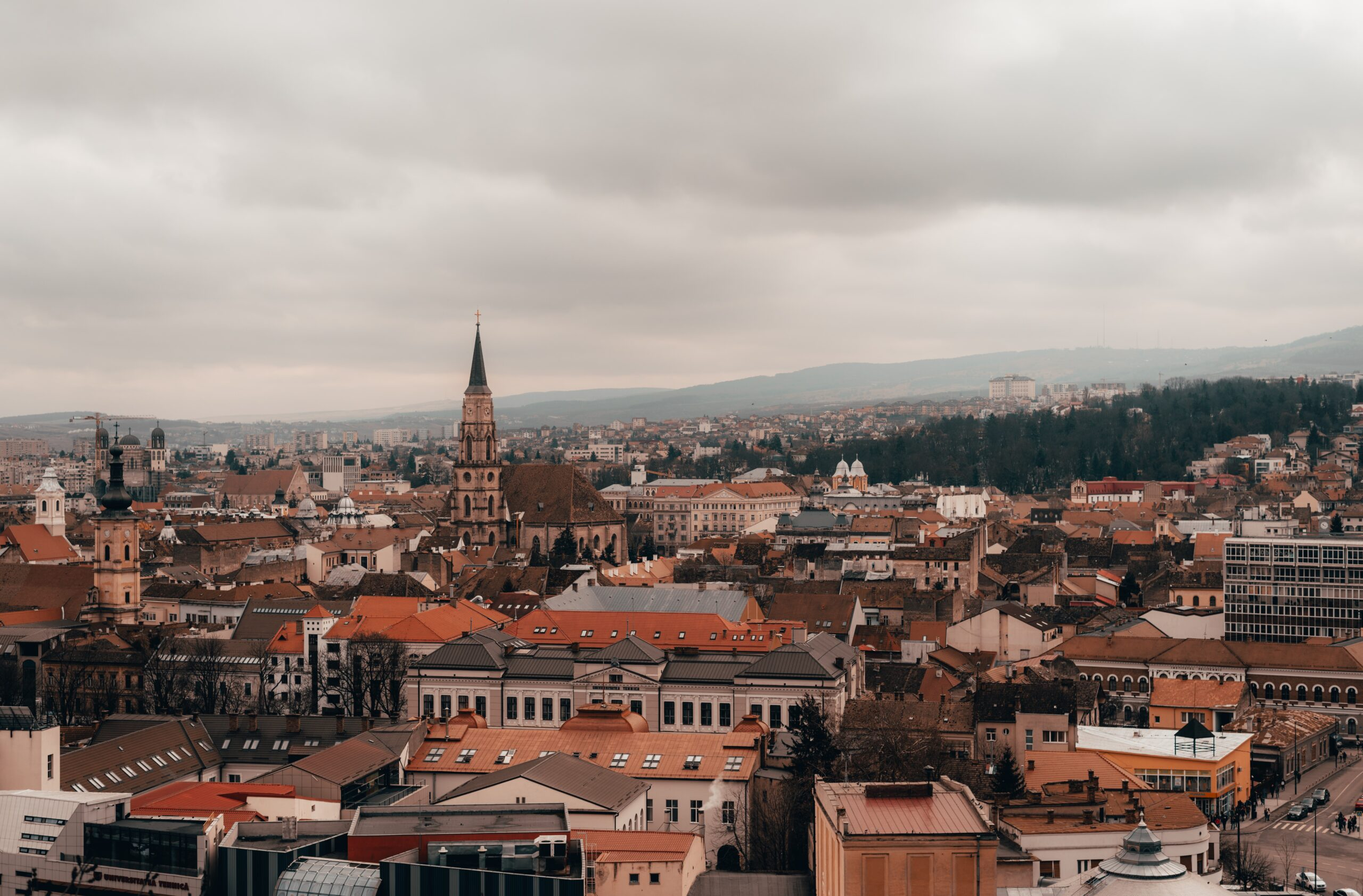 Cluj Napoca Transylvania view from Cetatuia Hill